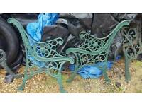 cast iron garden bench ends pick up wigan