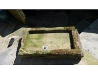Ornamental Stone Sink water feature or planter