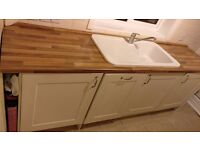 Kitchen - Both Normal & Integrated Cabinets, Worktops, Oven, Extractor fan and Sink