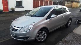 silver Vauxhall Corsa petrol 3dr 1.2