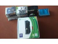 Xbox 360 (boxed) with 30+ games including limited edition halo reach and halo 4
