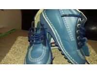 Blue kickers boots