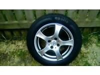 Alloy wheels as new with good tyres 15in came off corsa 4x100 pcd