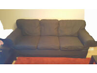 Ektorp 3 seater dark grey fabric sofa for less than half price!!!