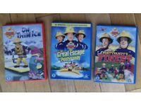 3 x Fireman Sam DVDs