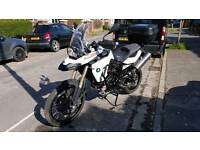Bmw f800gs 2010 white + loads of extras