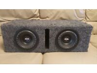 LANZAR TWIN SUBWOOFER 1200 WATT 2 x 6.5 INCH DOUBLE CAR SUB WOOFER IN PORTED ENCLOSURE