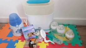 Bundle Philips Avent - Steriliser, Bottle Warmer, Breast Pump, Bottles, Tears, Storage Bags...