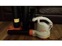 Stihl electric leaf shredder & blower brand new