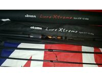 Okuma lure xtreme rod with case brand new 9ft 3.four piece.