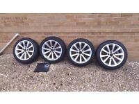 "BMW 17"" original alloy wheels + tyres £260"
