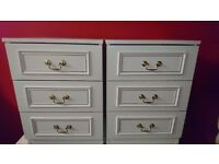 2 Bedside Tables (White/Gold) in Great Condition! £30 Ono