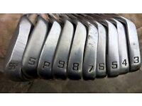 Petron Set of Golf Irons 3- 55 wedge + 1 Driver & 3 metal woods + Putter & callaway golf bag