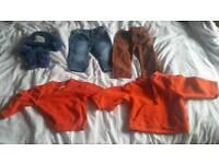 Baby boy clothes worne once 6-9 months Next