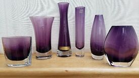 Collection of handmade LSA and Magnor Glassware and Champagne flutes