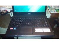 Acer Aspire 4552 Laptop 4Gb Ram 320 Gb Hdd webcam-micr.-dvd-wifi-office2016