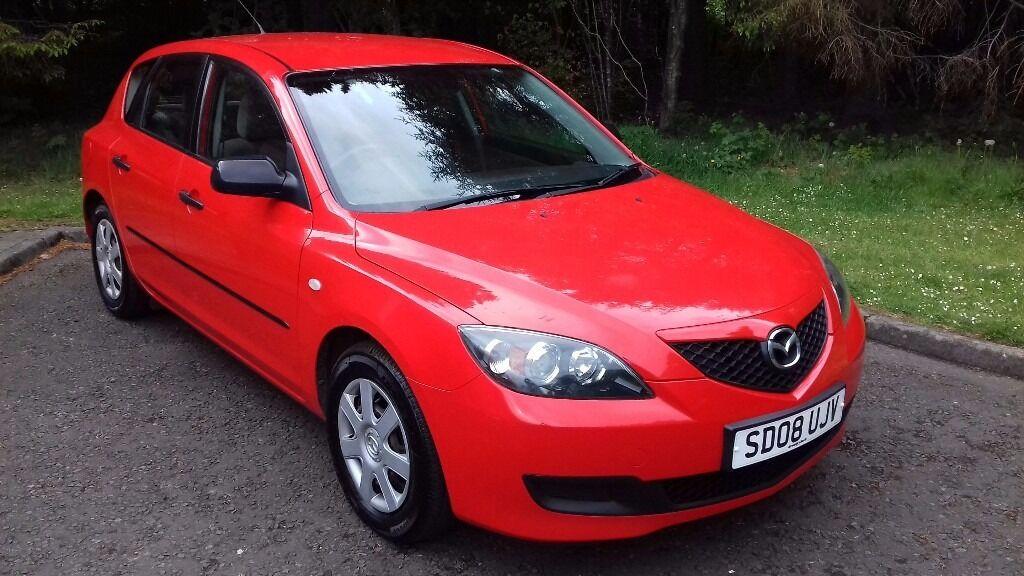 08 08 Mazda 3 14 S 5 Door Bright Red Long MOT June 18
