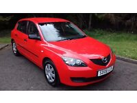 08 Mazda 3 1.4 S 5dr, Red, Grey Trim, Sharp Bright Car in great condition, Mazda DSR, 84k