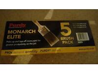 Purdy paint brushes brand new pack of 5