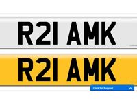 Cheap R21 AMK private cherished personalised personal registration plate number