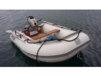 Quicksilver 250LX Airdeck inflatable tender with Honda 2 hp 4 Stroke engine