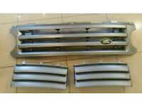2005 Genuine land Rover range rover front radiator grillie and fender vent grill