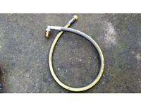 Midbrass Oven Cooker Gas Supply 1 Metre Pipe Flexible Hose Angle Micropoint EN14800