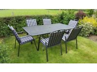 Kettler garden table and 6 chairs with cushions