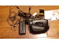 sony camcorder handycam video 8 xr ccd-tr417e pal