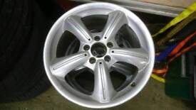 "4 x Mercedes CLK style alloy wheels, 17"" x 7.5j and 8.5j wide, great condition"