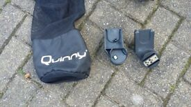 Quinny Zapp Car Seat Adapters with spare black seat (and slightly broken frame!)