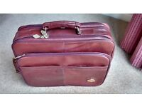 Vintage Chantal leather overnight/ document case