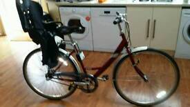 Raleigh caprice bike with kids carrier