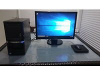 "QUICK SALE Gaming Ready Desktop PC full setup & 24"" Full HD Samsung Monitor, Intel i5 3.2Ghz 4 Core"