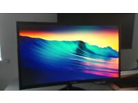 Samsung C24F390 24 Inch Curved FHD 60Hz LED PC Monitor - HDMI, VGA. Excellent Condition. RRP £130