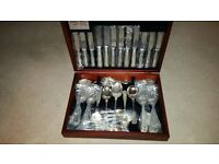 46 piece Kings style wooden canteen of EPNS cutlery set marked Smith Seymour. £75