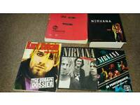 Collection of 5 Nirvana books, one with dvd