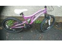 MUDDY FOX, GIRLS MOUNTAIN BIKE,, 13 INCH FRAME, 20 INCH WHEELS,, 18 GEARS, AGE 7 UPWARDS,VGC