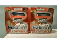 Gillette Fusion Power Razor 2 x 8 blades