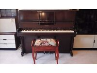 PIANO AND PIANO STOOL FOR SALE.
