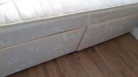 Doubke divan base and mattress