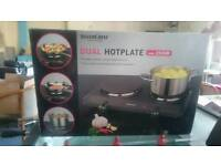 Dual Hot Plate silver crest