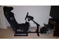 PC & Xbox Simulator. Playseat, Logitech G920 Wheel, Pedals, Manual Shifter.