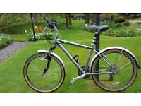 Dawes Street Elite Gents Hybrid Bike - Lightweight, 24 speed, front suspension, 26 inch Wheel
