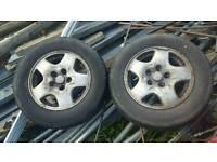 mazda bongo alloy wheels × 2