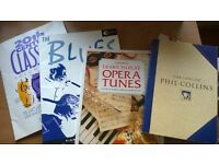 bundle lot sheet music books blues opera phil collins 4 for all