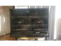 Stereo receiver, double casette, tunner Fm and CD player Technics
