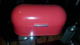 Red Tin Bread Bin from Next