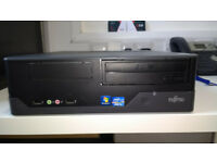 Desktop Fujitsu Esprimo E400 E85+, i3- 2130 @ 3.4Ghz, 128 SSD hard drive, 4GB Ram, Windows 10 Pro