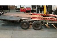 Car transporter twin axle trailer with winch ONLY £ 495
